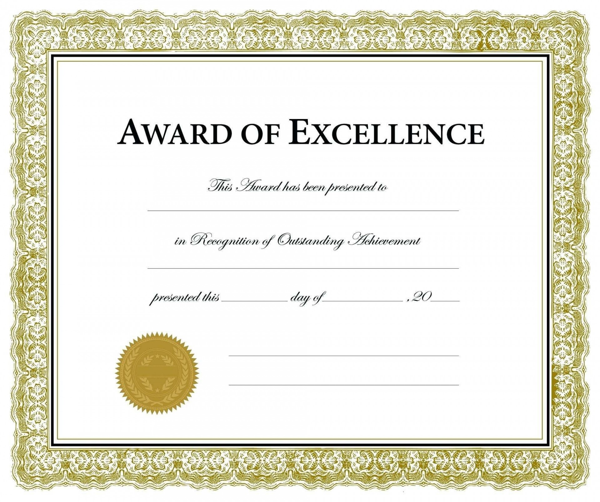 009 Magnificent Blank Award Certificate Template Highest Quality  Printable Math Editable Free1920