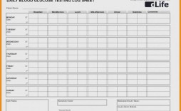 009 Magnificent Blood Glucose Spreadsheet Template Highest Quality  Tracking