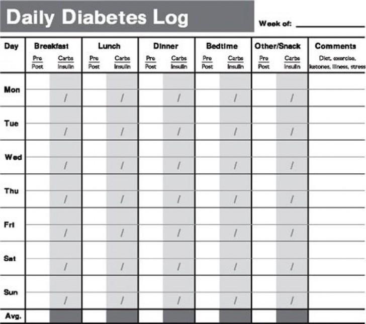 009 Magnificent Blood Sugar Log Book Template Image  Glucose728