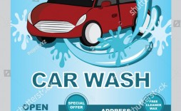 009 Magnificent Car Wash Flyer Template Concept  Free Fundraiser Download