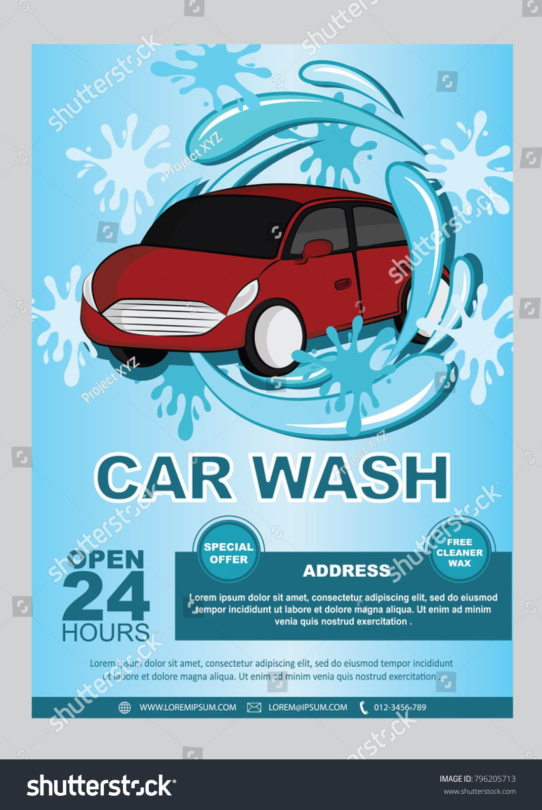 009 Magnificent Car Wash Flyer Template Concept  Free Fundraiser DownloadFull
