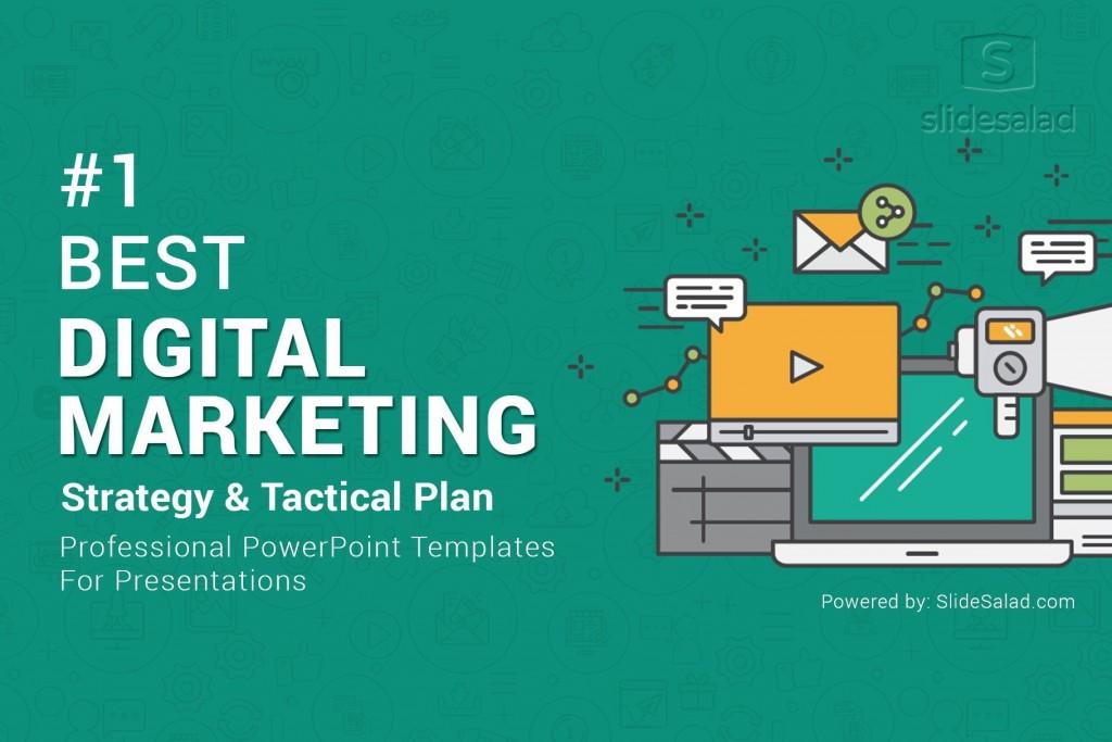 009 Magnificent Digital Marketing Plan Template Ppt Example  Presentation Free SlideshareLarge