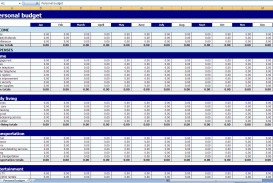 009 Magnificent Excel Monthly Budget Template Photo  South Africa