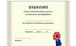 009 Magnificent Free Diploma Template Download Example  Word Certificate High School Appreciation