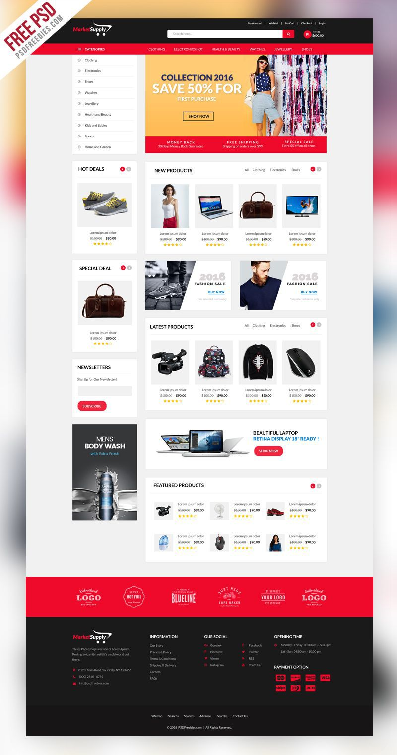 009 Magnificent Free Ecommerce Website Template Download Idea  Shopping Cart Bootstrap 3Full
