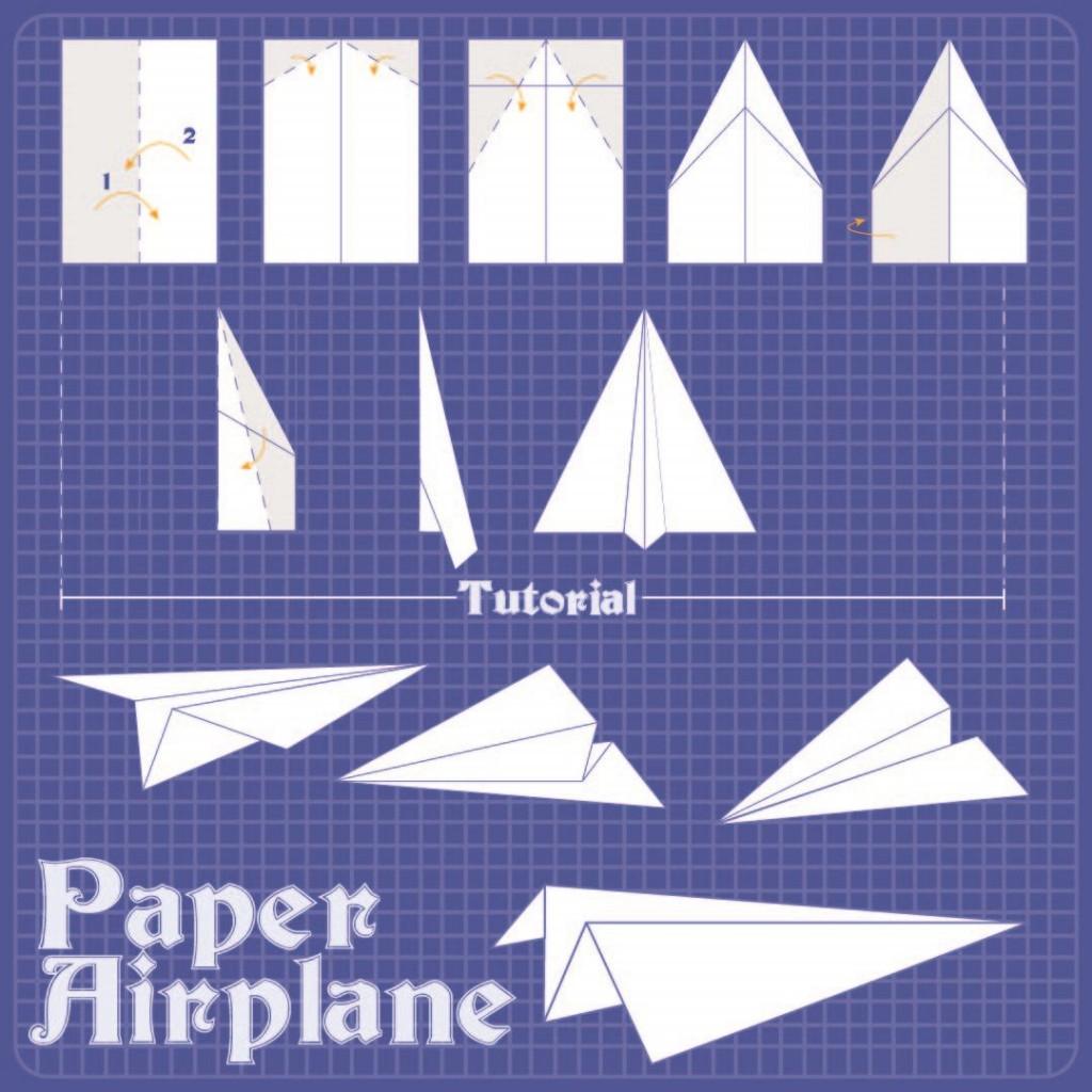 009 Magnificent Free Paper Airplane Design Printable Template Sample  Designs-printable TemplatesLarge