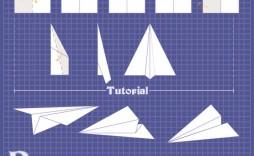 009 Magnificent Free Paper Airplane Design Printable Template Sample  Designs-printable Templates