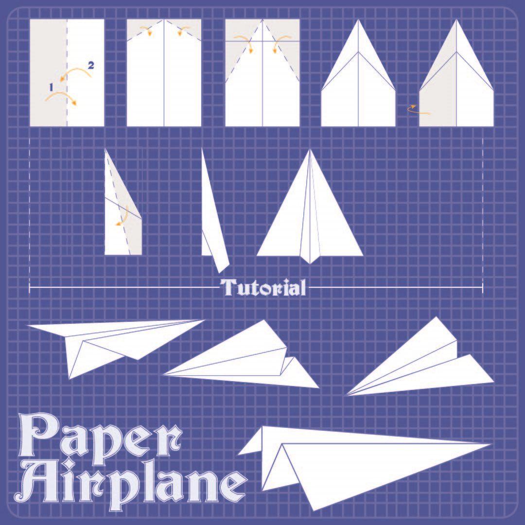 009 Magnificent Free Paper Airplane Design Printable Template Sample  Designs-printable TemplatesFull