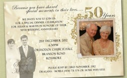 009 Magnificent Free Printable 50th Wedding Anniversary Invitation Template Photo  Templates