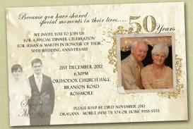009 Magnificent Free Printable 50th Wedding Anniversary Invitation Template Photo