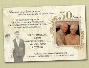 009 Magnificent Free Printable 50th Wedding Anniversary Invitation Template Photo 360