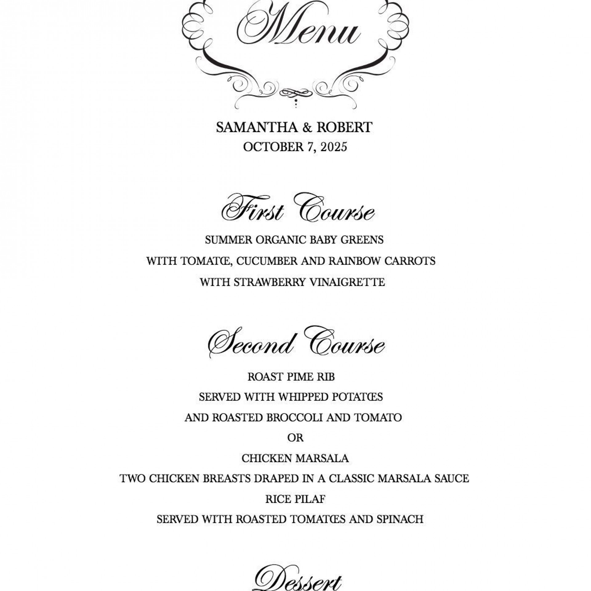 009 Magnificent Free Printable Wedding Menu Card Template High Def 1920