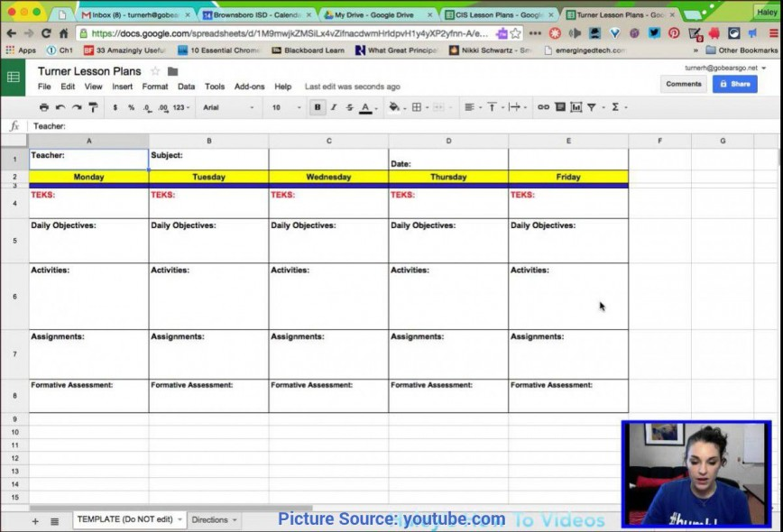 009 Magnificent How To Make A Lesson Plan Template In Google Doc Concept  Docs