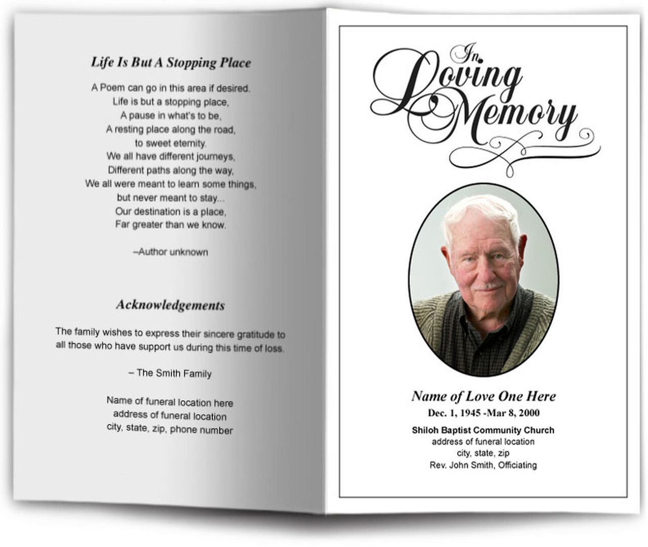 009 Magnificent In Loving Memory Template Example  Bookmark Free Download MemeFull