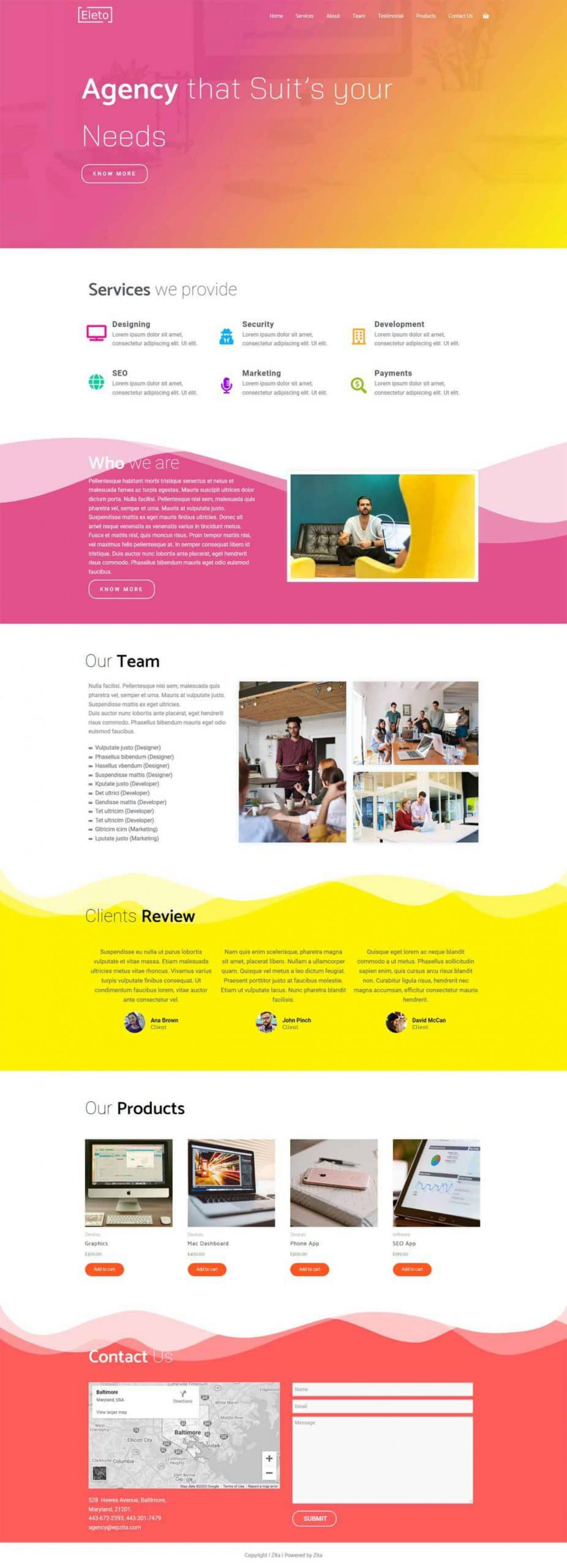 009 Magnificent Iran Free One Page Psd Website Template Concept 1920