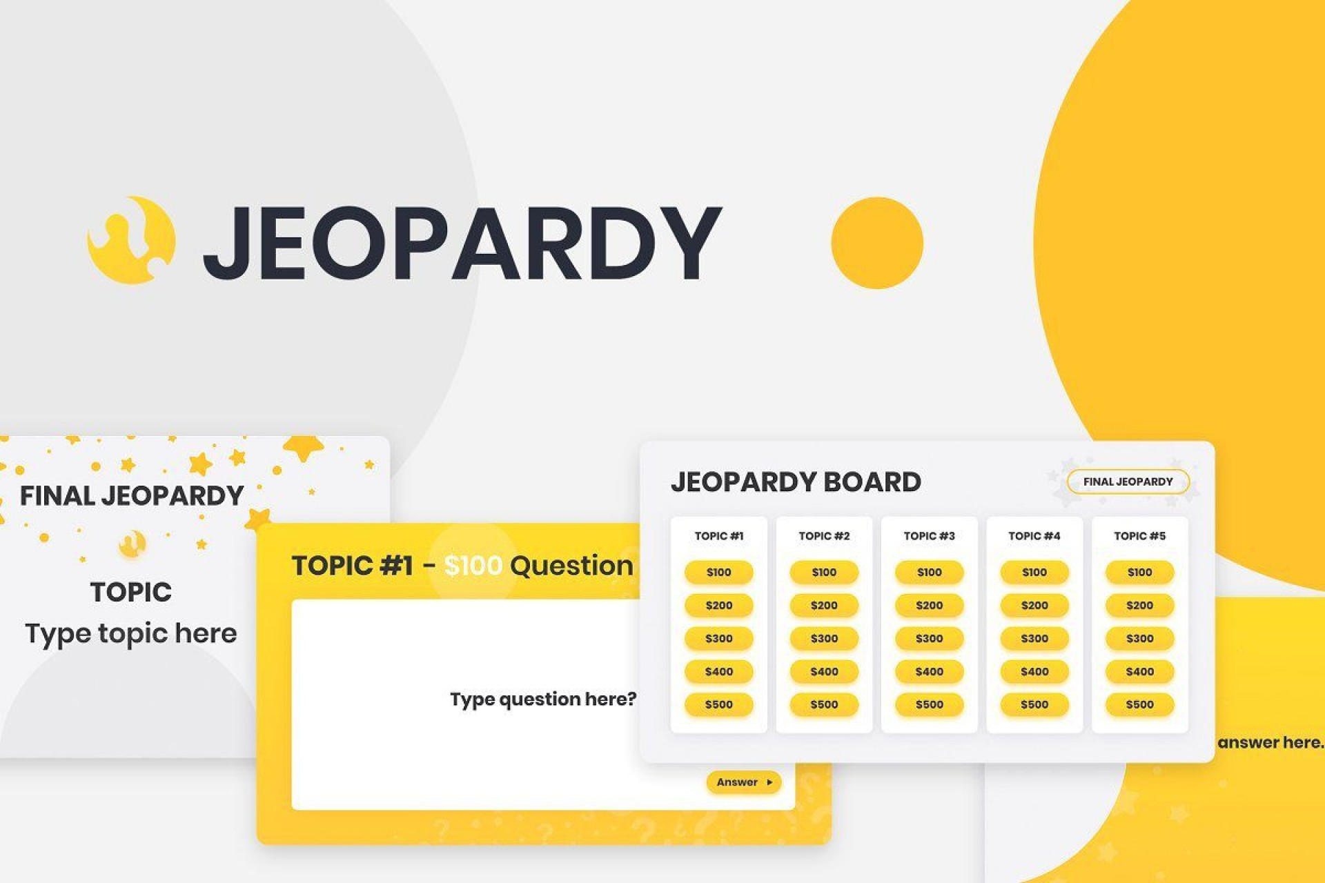 009 Magnificent Jeopardy Template Google Slide Sample  Slides Board Blank Best1920