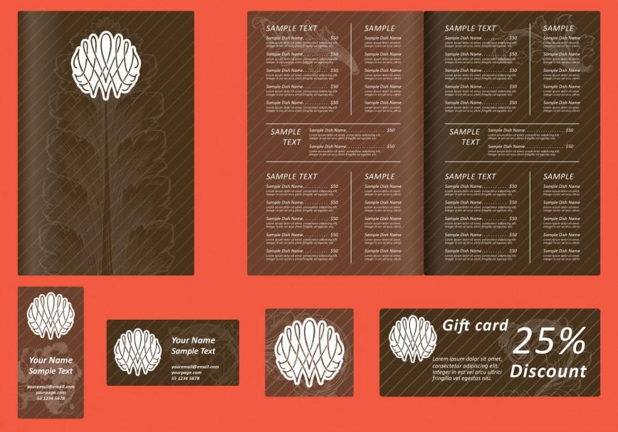 009 Magnificent Menu Card Template Free Download High Definition  Food Restaurant Design