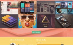 009 Magnificent One Page Website Template Psd Free Download Highest Clarity