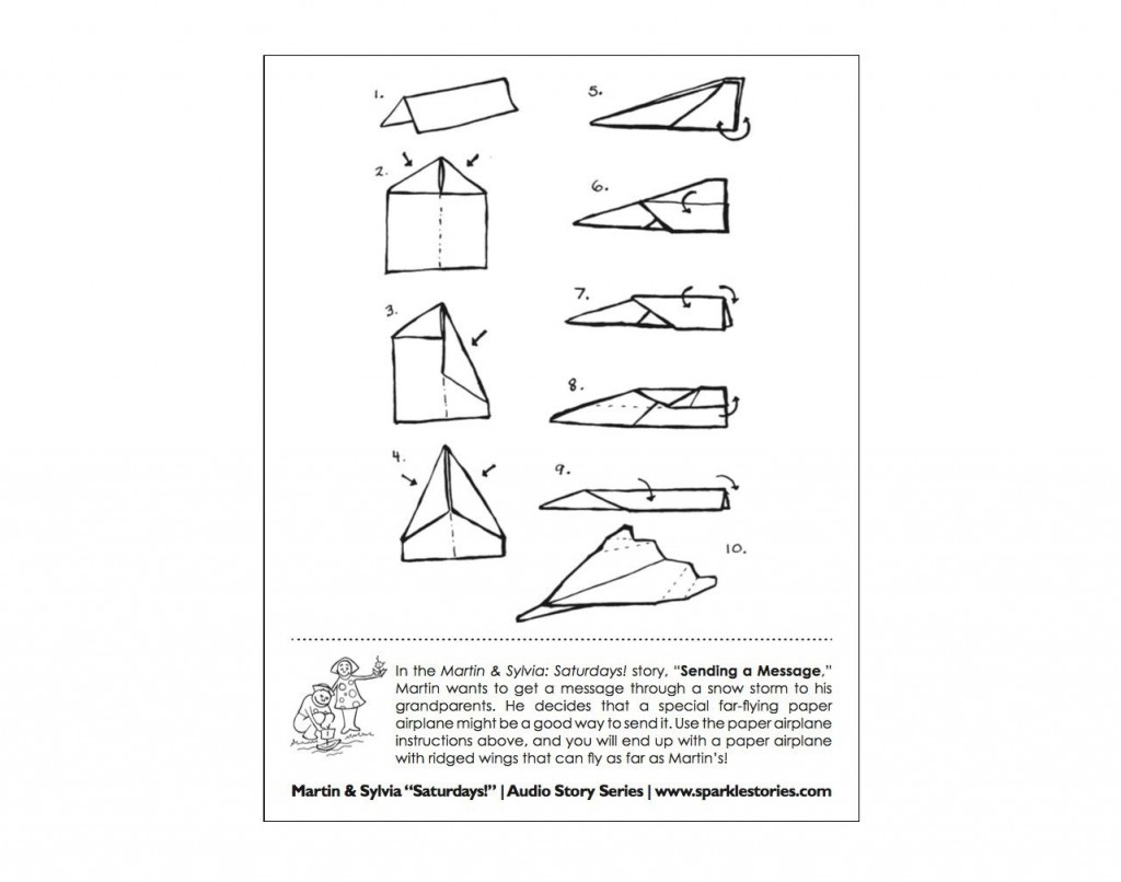 009 Magnificent Printable Paper Airplane Instruction Photo  Simple Free FoldingLarge