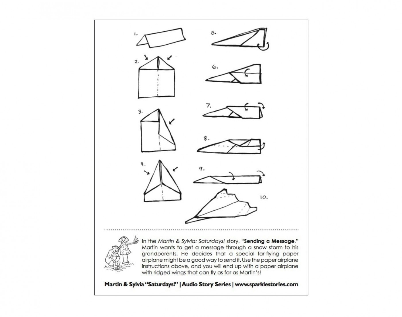 009 Magnificent Printable Paper Airplane Instruction Photo  Simple Free Folding1400
