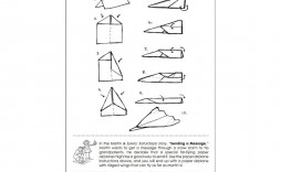 009 Magnificent Printable Paper Airplane Instruction Photo  Instructions Free Pdf Simple