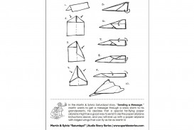 009 Magnificent Printable Paper Airplane Instruction Photo  Free Pdf Dart