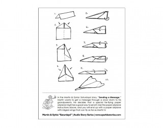 009 Magnificent Printable Paper Airplane Instruction Photo  Simple Free Folding320