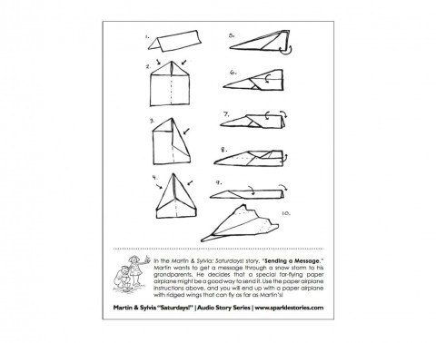 009 Magnificent Printable Paper Airplane Instruction Photo  Simple Free Folding480