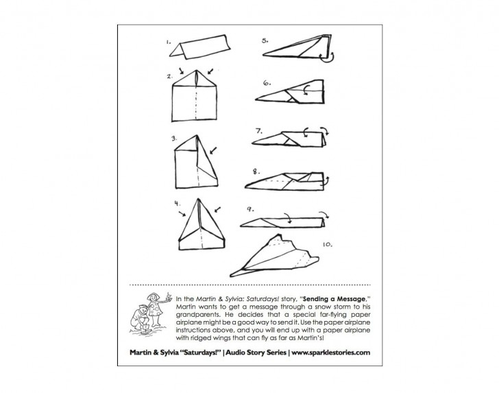 009 Magnificent Printable Paper Airplane Instruction Photo  Simple Free Folding728