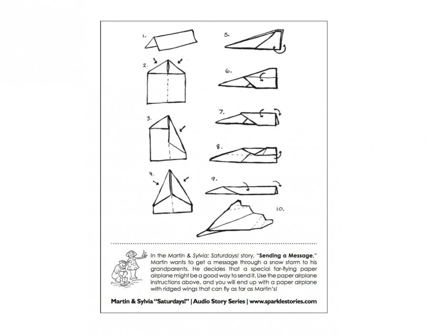 009 Magnificent Printable Paper Airplane Instruction Photo  Simple Free Folding868
