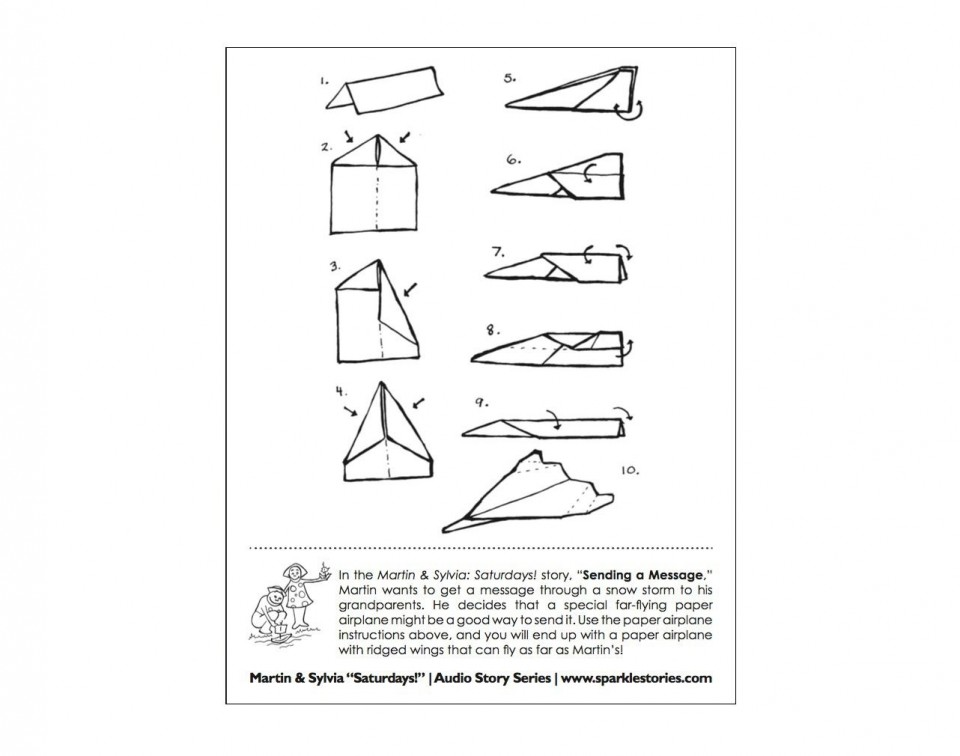 009 Magnificent Printable Paper Airplane Instruction Photo  Simple Free Folding960