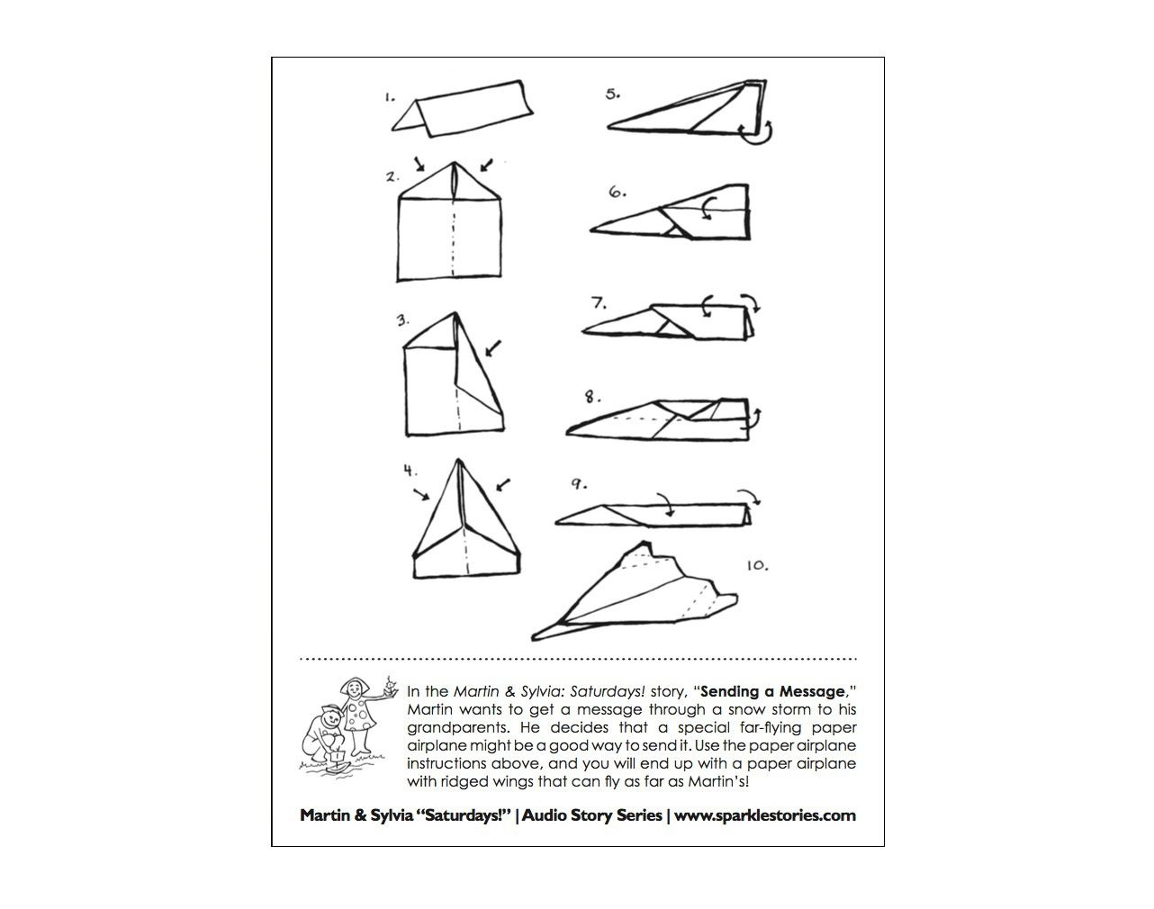 009 Magnificent Printable Paper Airplane Instruction Photo  Simple Free Folding