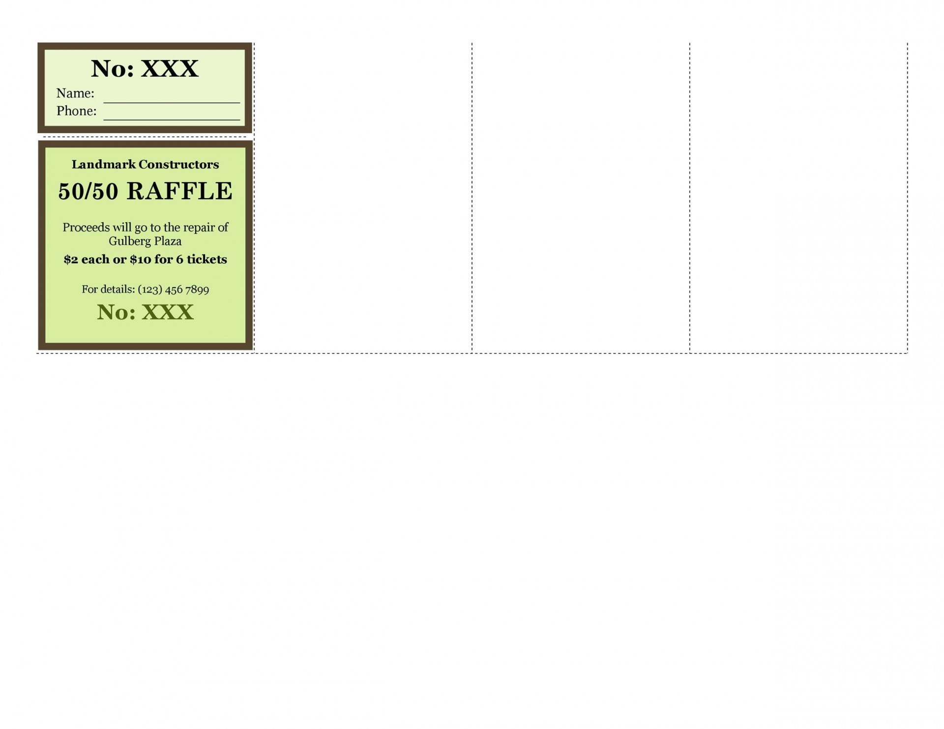 009 Magnificent Raffle Ticket Template Word Picture  8 Per Page Format1920
