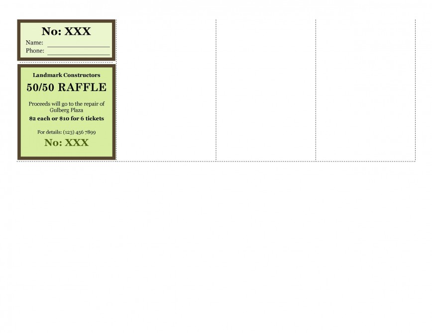 009 Magnificent Raffle Ticket Template Word Picture  Simple 8 Per Page 2010