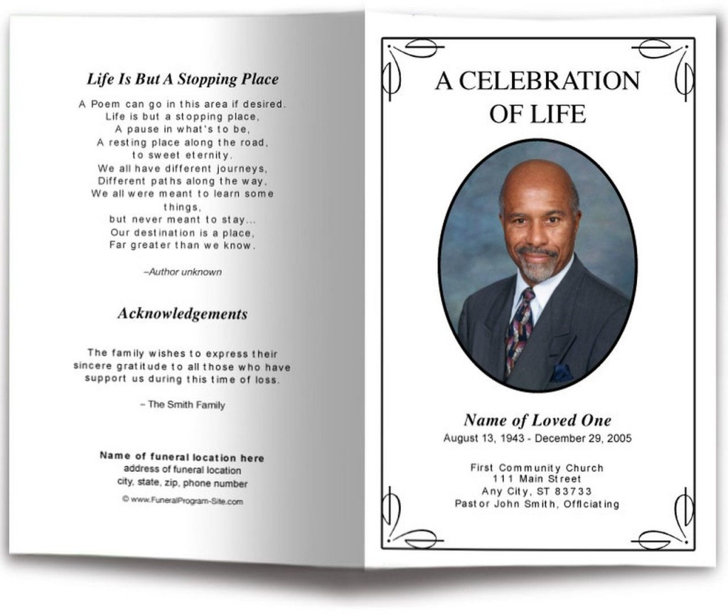 009 Magnificent Simple Funeral Program Template Free Highest Clarity  DownloadLarge