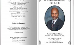 009 Magnificent Simple Funeral Program Template Free Highest Clarity  Download