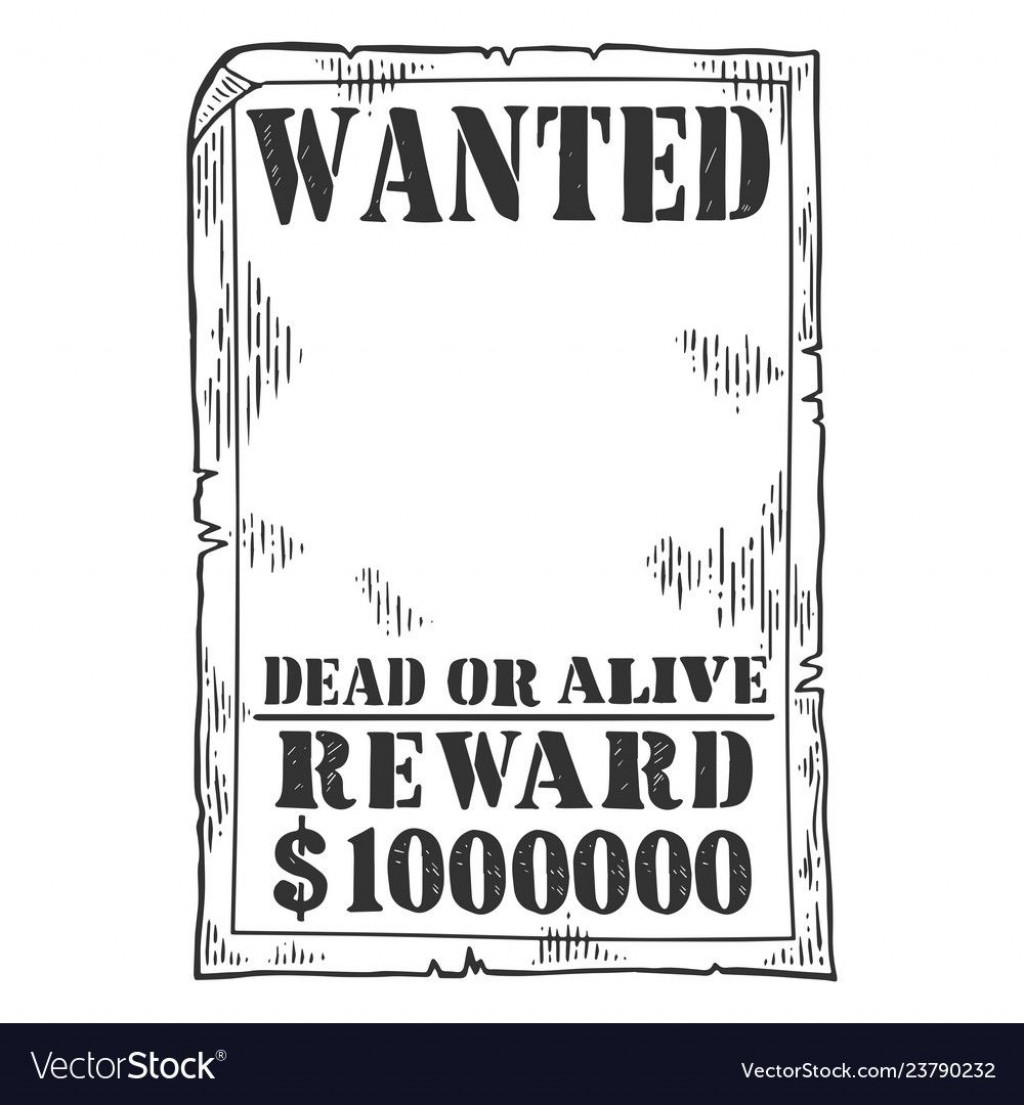 009 Magnificent Wanted Poster Template Pdf Inspiration  Free CharacterLarge