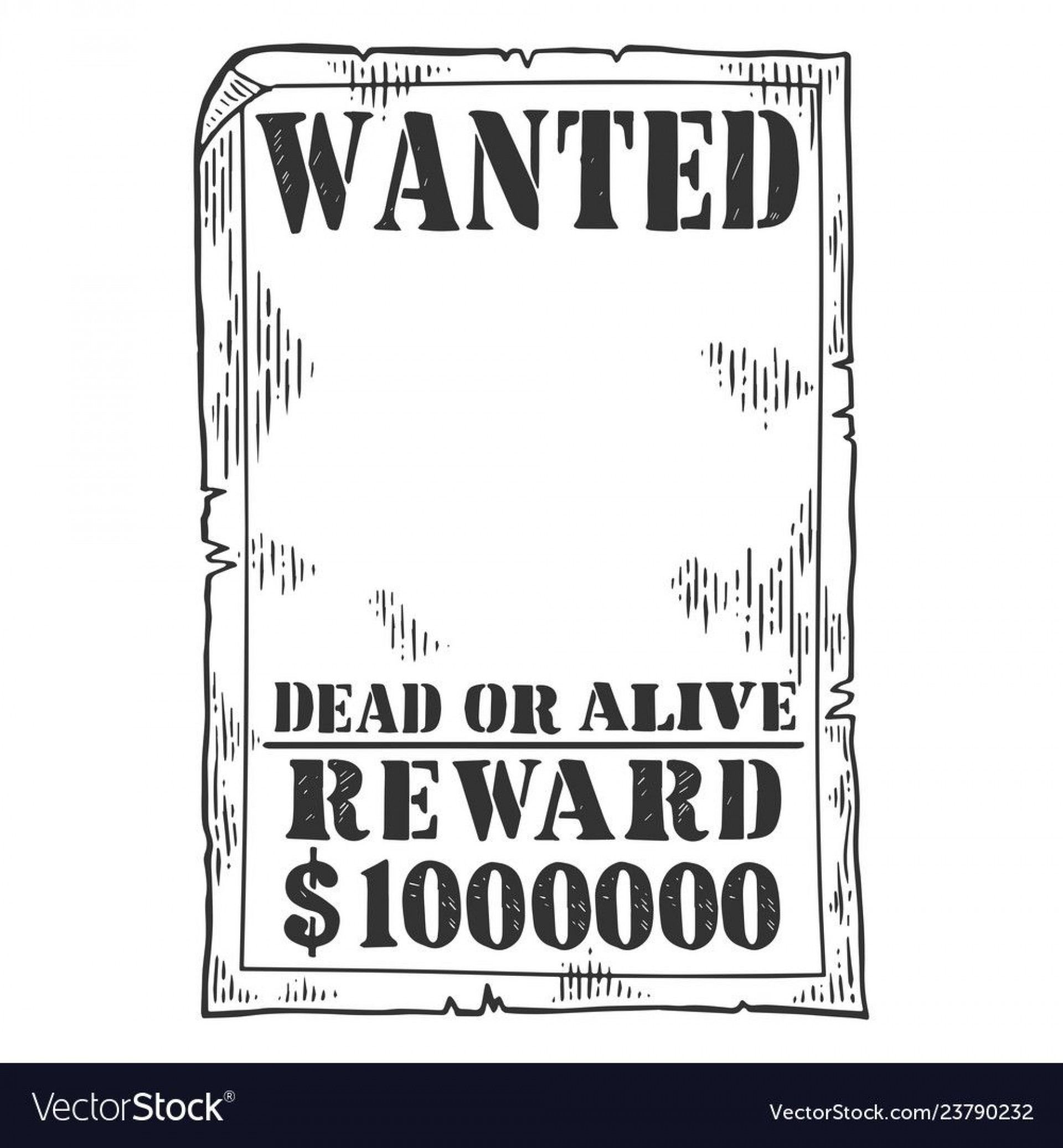 009 Magnificent Wanted Poster Template Pdf Inspiration  Free Character1920