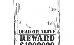 009 Magnificent Wanted Poster Template Pdf Inspiration  Free Character