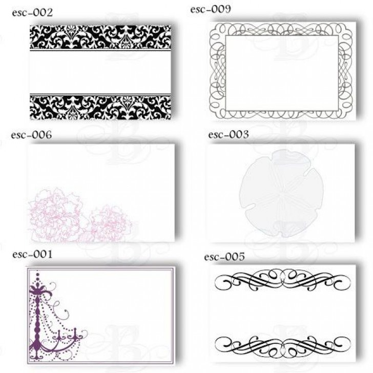 009 Magnificent Wedding Name Card Template Example  Seating Chart Place Free728