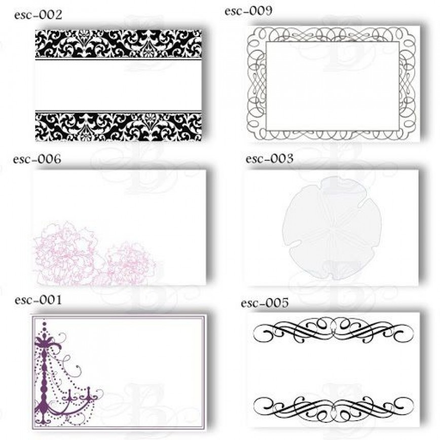 009 Magnificent Wedding Name Card Template Example  Seating Chart Place Free868