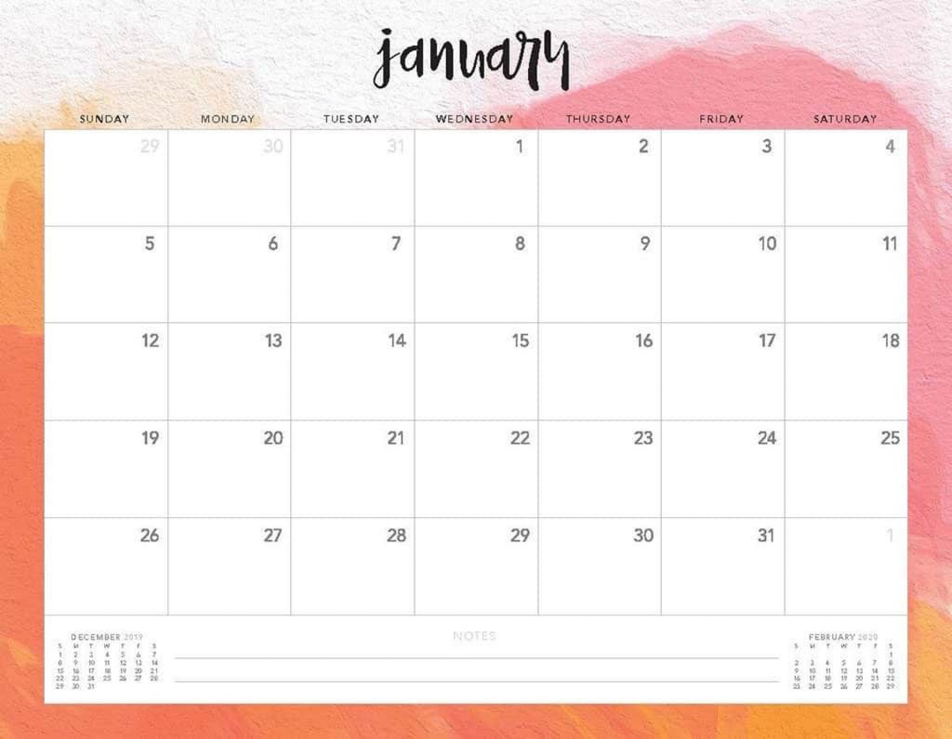 009 Marvelou 2020 Monthly Calendar Template Picture  Templates Word Australian Free1920
