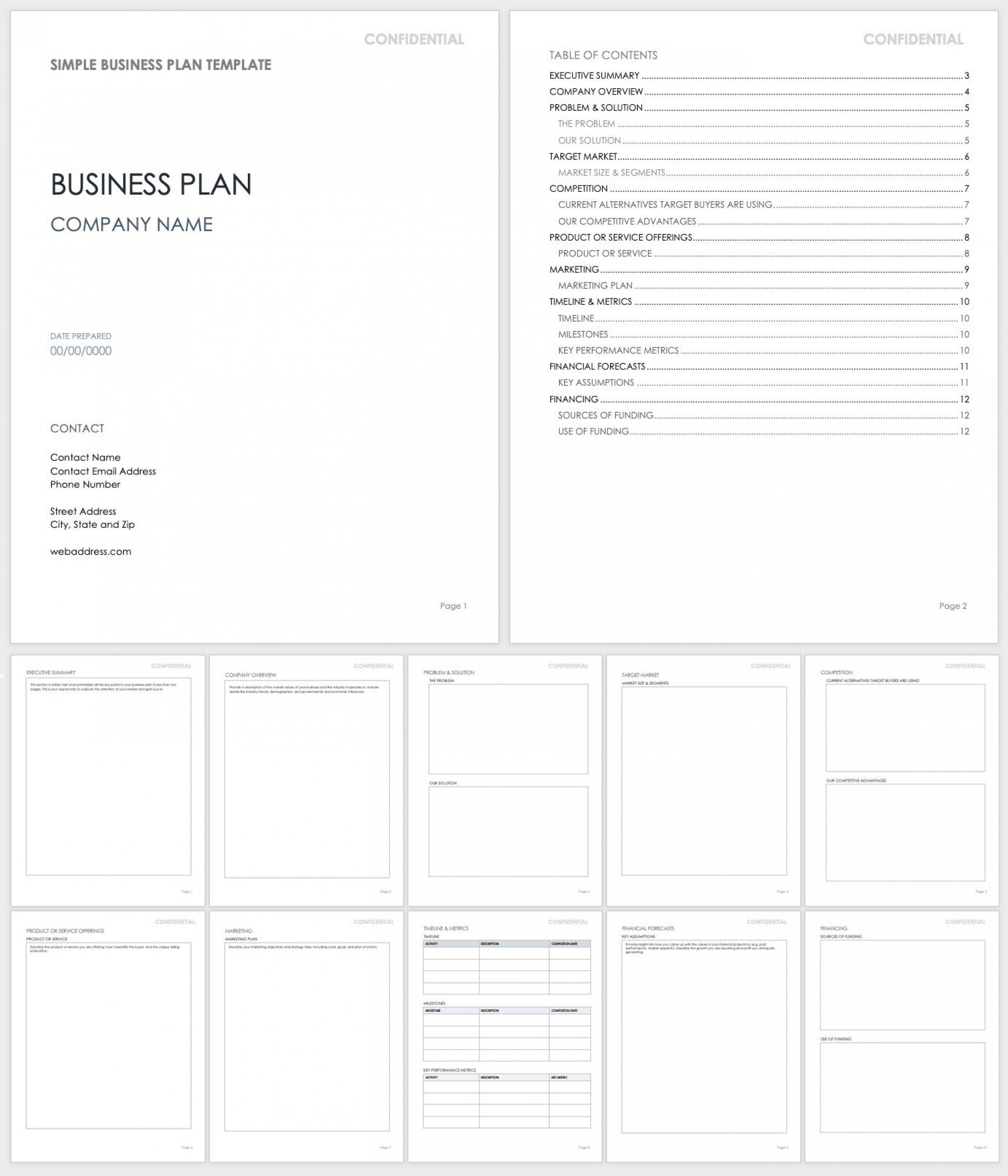 009 Marvelou Busines Plan Word Template High Resolution  Templates Doc Free Download Sale1920