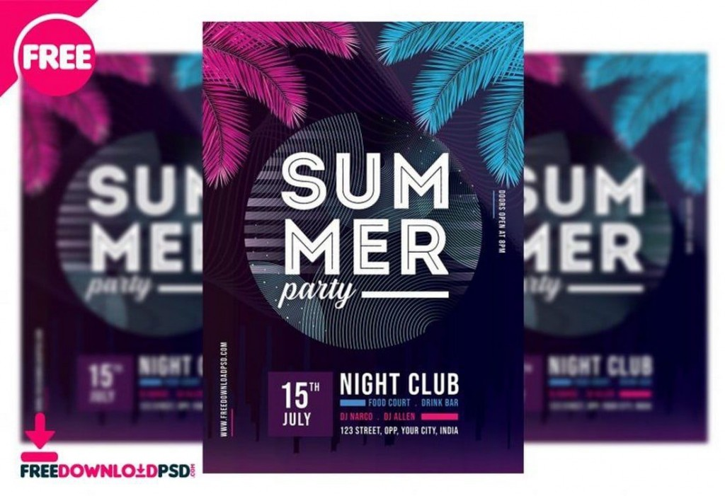 009 Marvelou Club Party Flyer Template Free Concept Large
