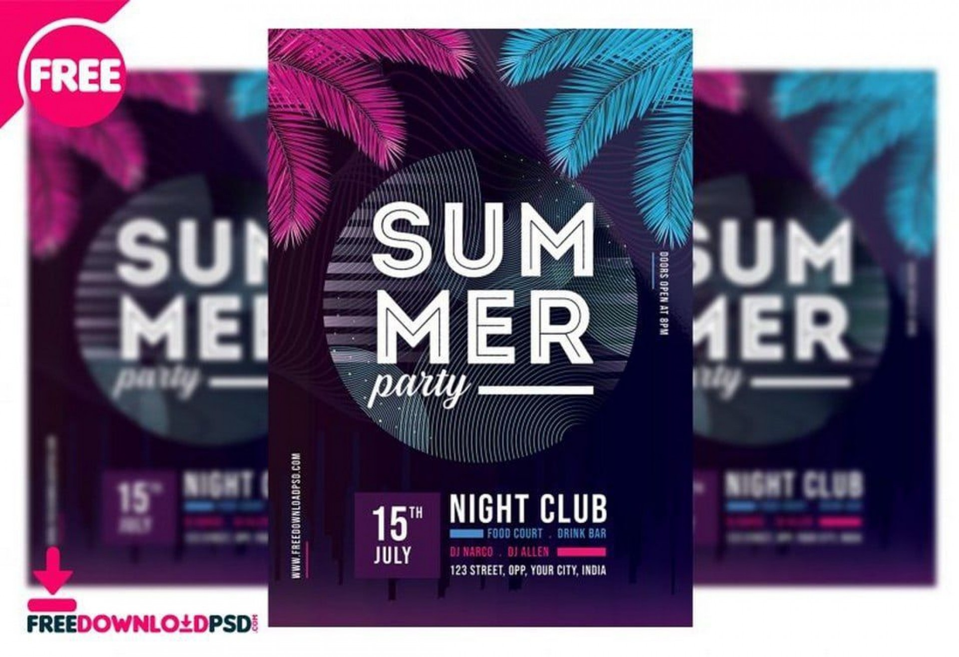 009 Marvelou Club Party Flyer Template Free Concept 1920