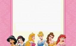 009 Marvelou Disney Princes Invitation Template Example  Downloadable Party Free Printable Birthday