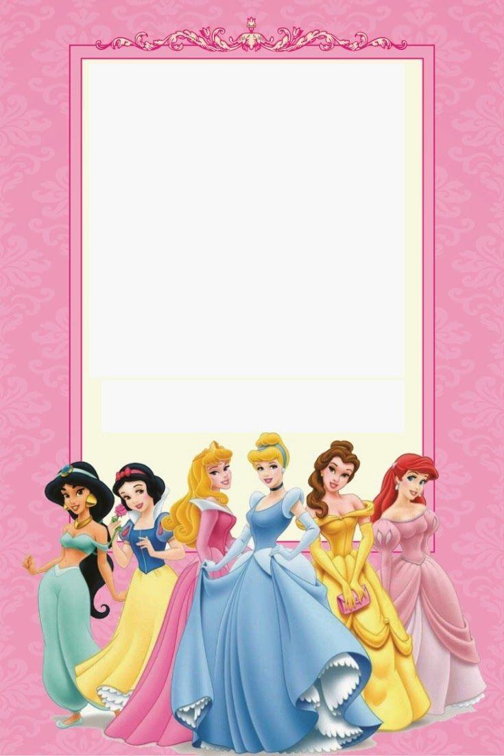 009 Marvelou Disney Princes Invitation Template Example  Downloadable Party Free Printable BirthdayFull