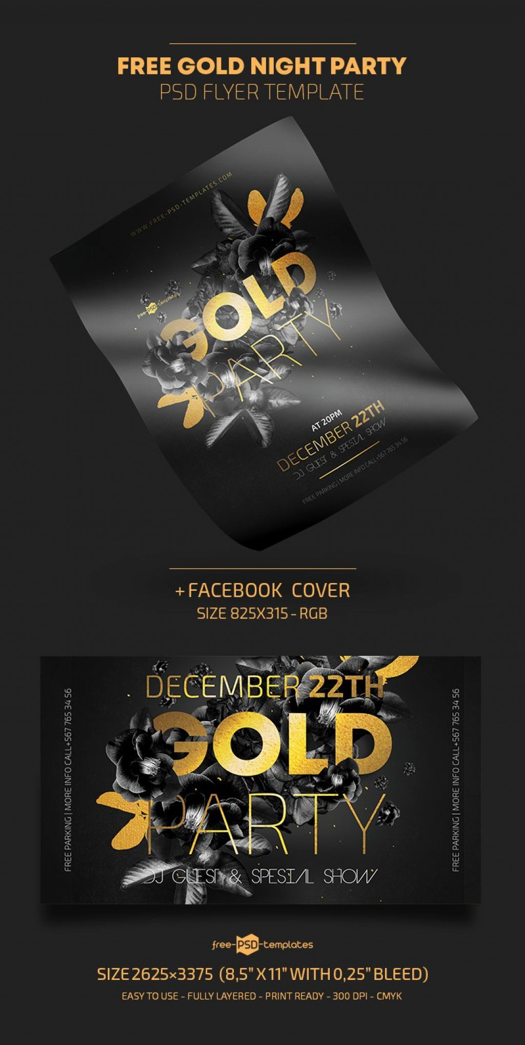 009 Marvelou Free Party Flyer Template For Photoshop Picture  Pool Psd DownloadLarge