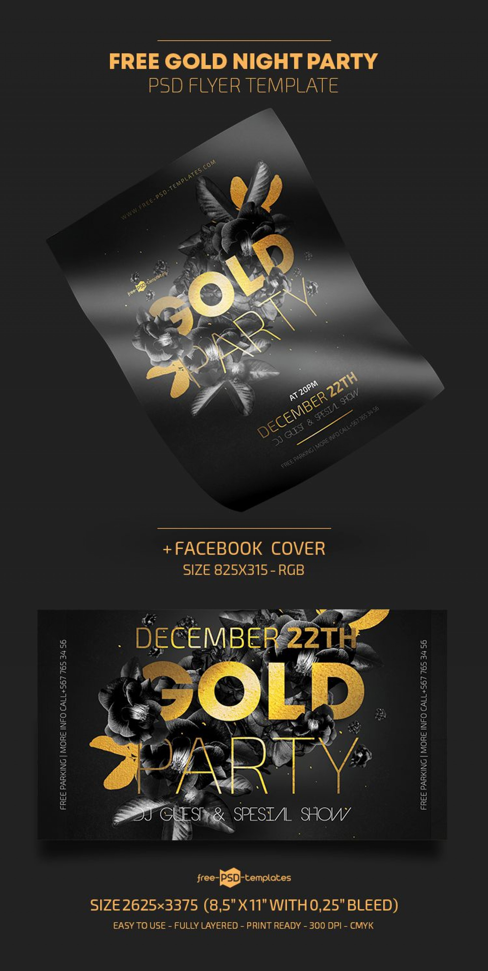 009 Marvelou Free Party Flyer Template For Photoshop Picture  Pool Psd Download1920