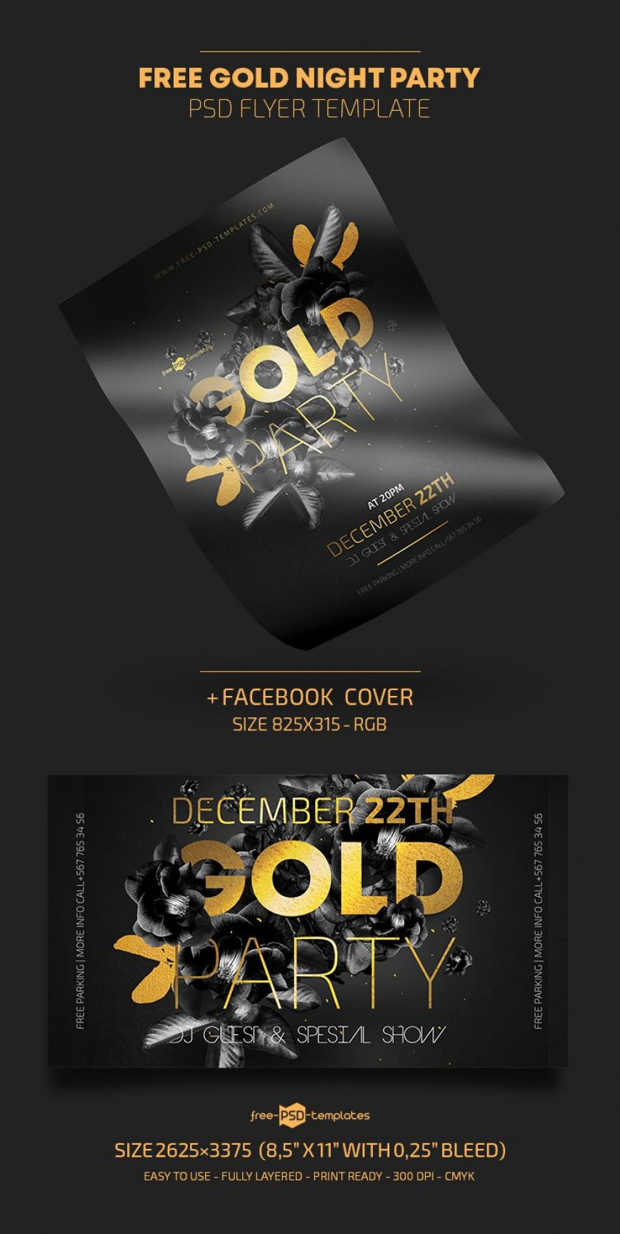 009 Marvelou Free Party Flyer Template For Photoshop Picture  Pool Psd Download868